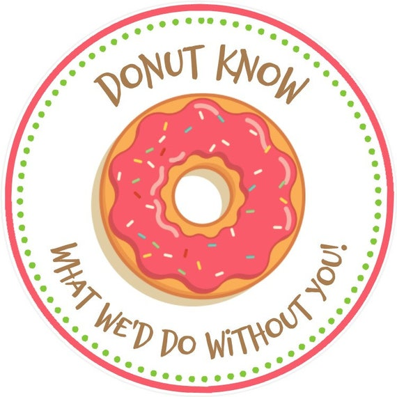 picture regarding Donut Printable called Donut Want Tags ( Printable History - Yourself Print) - Donut Present Tags - Donut Printable Tag - Donut Thank On your own Tag