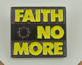 Rare Vintage Faith No More Enamel Metal Pin / Badge / Brooch 1990 | Music Band Badge