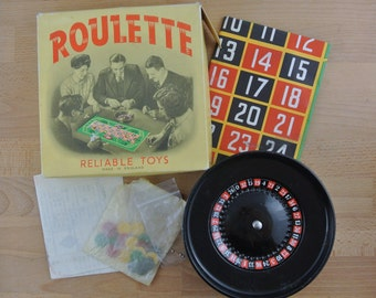 Vintage Mini Roulette Wheel Toy | Reliable Toys Chad Valley Games Made in England