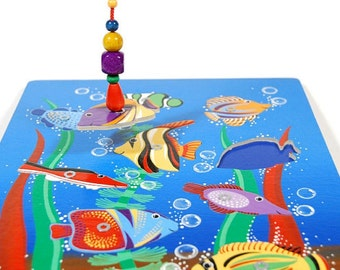 Wooden game for children - fishing  (for age 2 -3 )