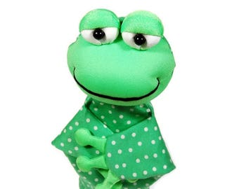 Animal hand puppet for children - frog. Role playing hand puppet for children.