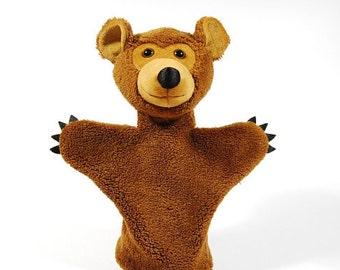 Developing animal hand puppet for children - handmade Bear Alfon. ( suitable for puppet theater )