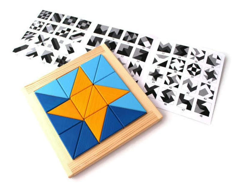 Montessori inspired wooden geometrical puzzle  developing image 0