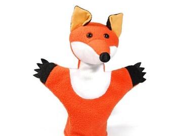Animal hand puppet for children - fox Kamilla
