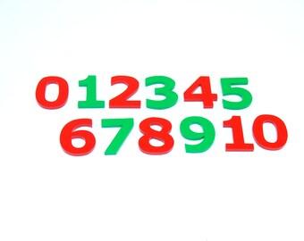 Wooden separatenumbers