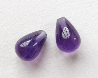 A+ Grade Purple Amethyst Smooth Half Top Drilled Mini Teardrops 6x10 mm One Pair Perfect for earrings G6397 F3529
