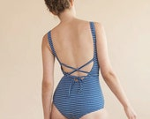Blue One Piece Bathing Suit, Swimsuits for Women, Plus Size Swimwear, Classic High Quality One Piece Swimsuit