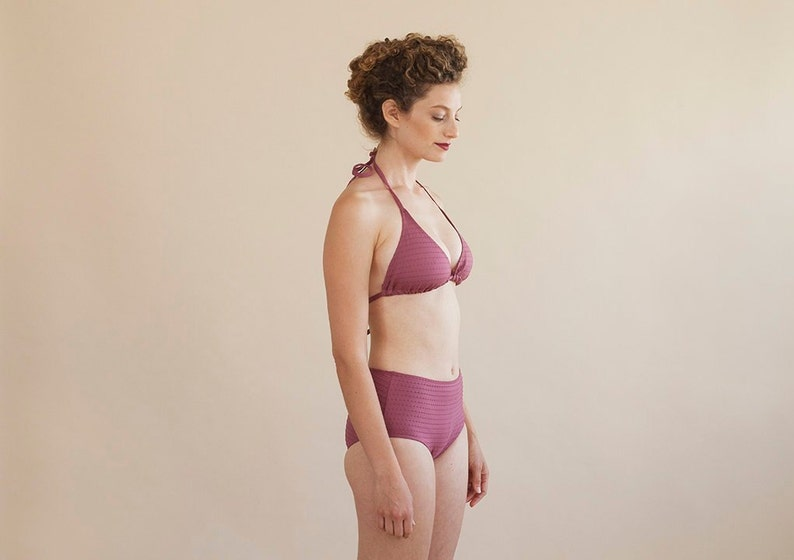 8e302e56a967c Bikini top womens two piece swimsuit high waist swimwear | Etsy