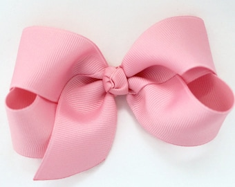 baby girl tie back bow Bright pink big bow