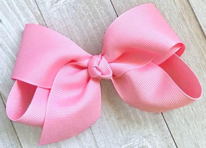 Toddler Bow Bows Bows for Girls Hair Bows PICK 4 Big Hair Bow Baby Bow Hair Bow Set No Slip Hair Clip Girls Hair Bows Girls Bow