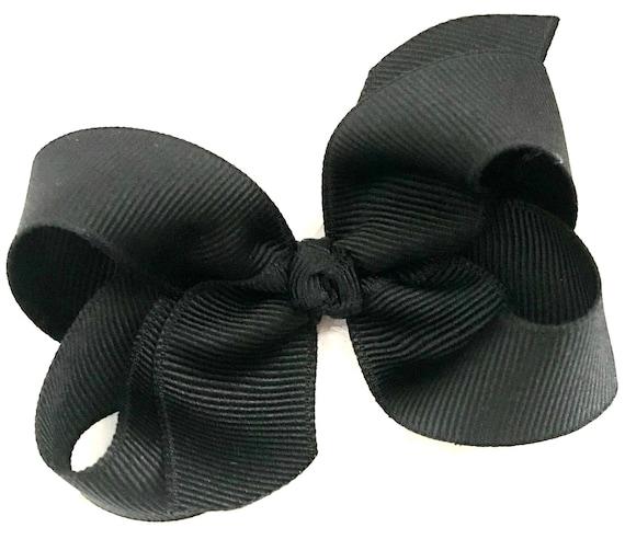 2bd496e86b4a Black Bow Baby Bow Black Hair Bow Newborn Bow Baby Girl