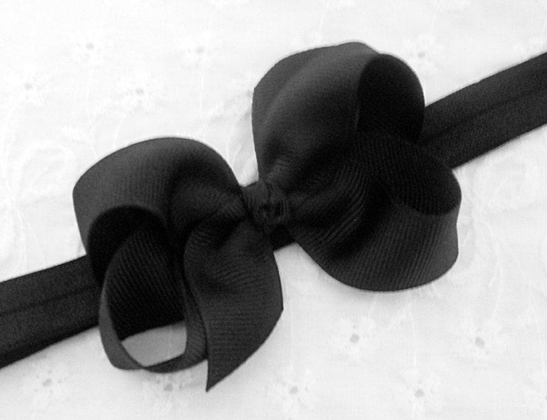 69f4c6c429c5 Black Baby Headband Baby Bow Bow Headband Newborn Headband