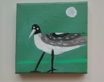 Gull with Moon / Painting