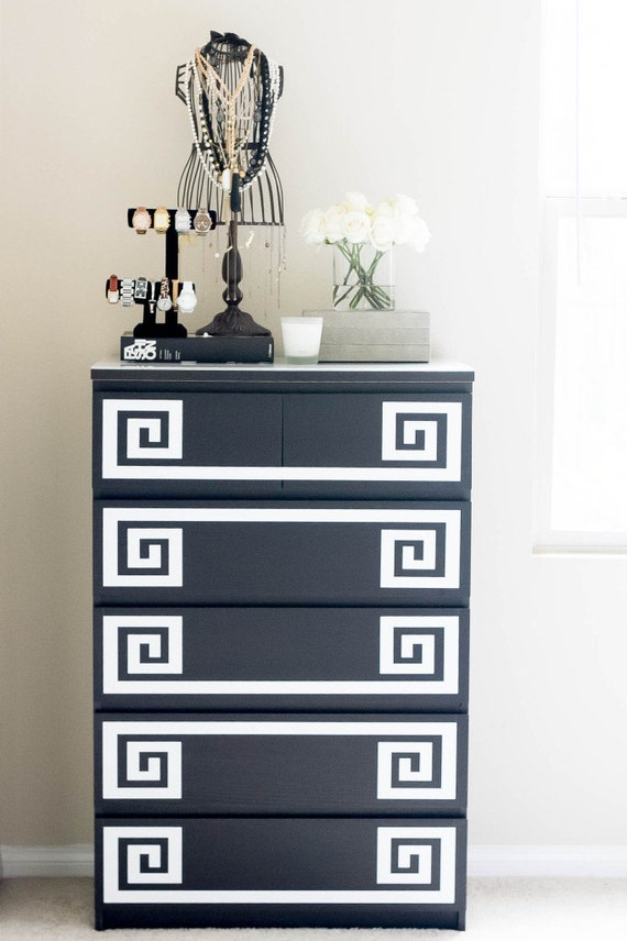 decals for ikea furniture hack greek key decals for malm. Black Bedroom Furniture Sets. Home Design Ideas