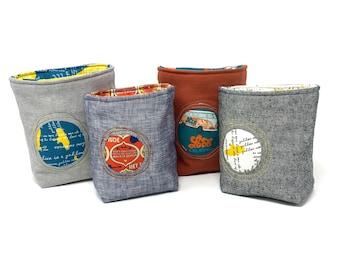 Fabric Storage Bin/Basket, Reversible - Beatles Collection