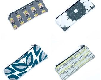 Zipper pouch, pencil pouch size.