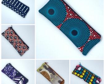 Zipper pouch, pencil pouch size. Tanzania collection