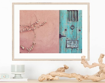 Door Photograph, Vintage Southwest Vibe, The Lost Barrio Tucson, Autumn in the Desert, turquoise, Fine Art Photography, Wall Decor