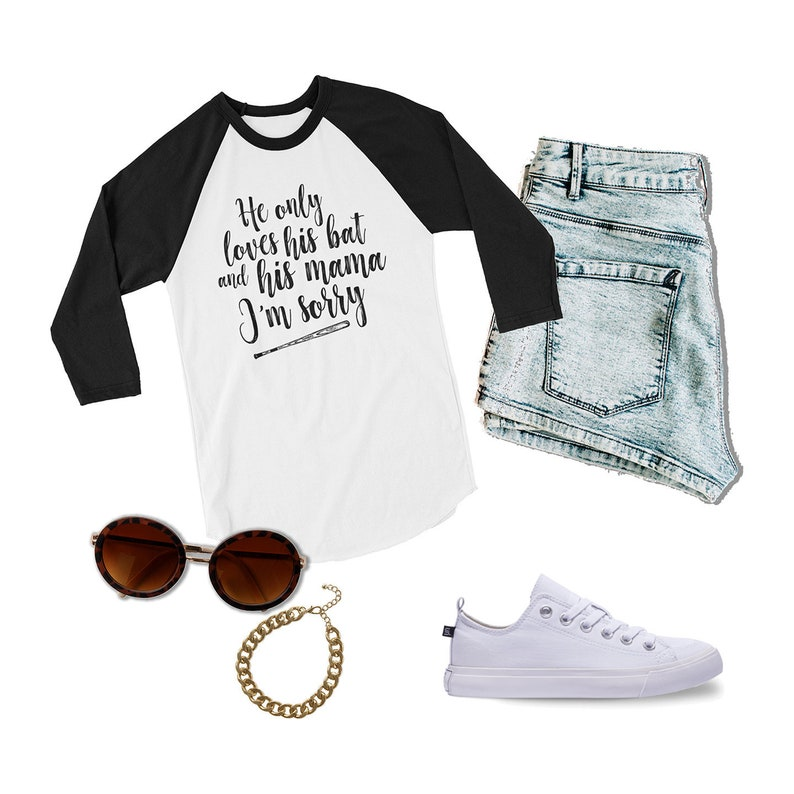 e389844b Baseball Mom Gift Raglan Shirt with Three Quarter Sleeve | Etsy