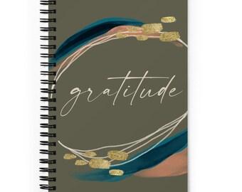 Gratitude Journal Spiral Bound Dot Grid Notebook, Mindfulness Journal, Mental Health Self Care Gift