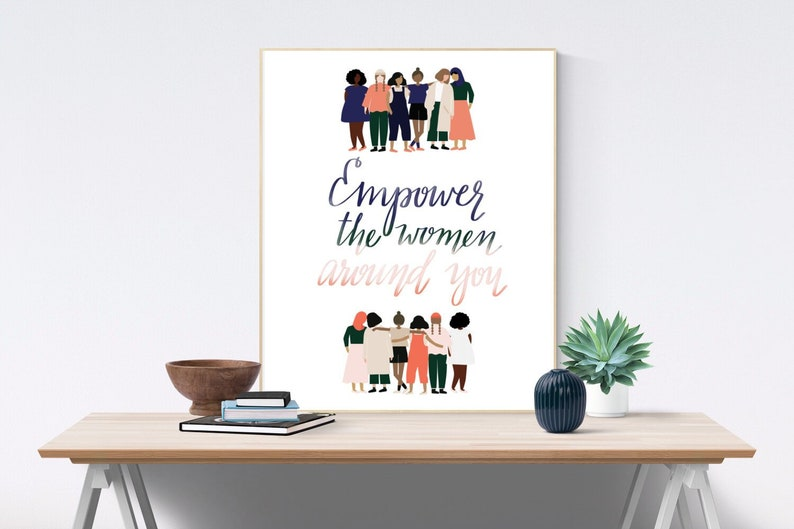 Empower Women Poster Feminist Gift Girlfriend Gift image 0