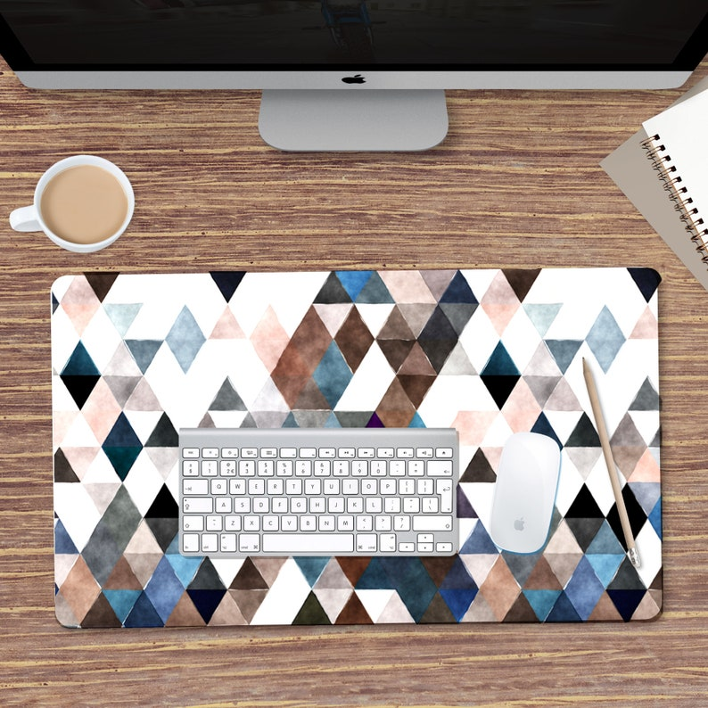 Extra Large Mouse Mat Abstract Geometric Desk Mat Large image 0