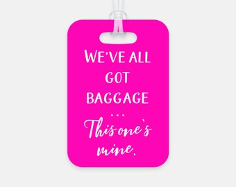 Funny Luggage Tag, Emotional Baggage, Personalized Custom Luggage Tag, Baggage Tag, Travel Accessories, Travel Gift, Going Away Present