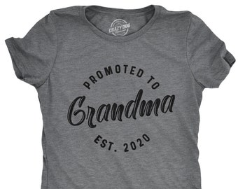 5017e6f9 2020 Grandma To Be Shirt, Funny Mom Shirt, Gift For Grandma, Funny Shirt  For Grammy, Mom Shirt Funny, Promoted To Grandma EST. 2020