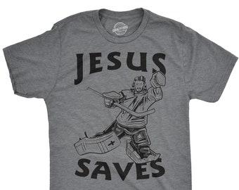 9de121dc46c4 Jesus Saves Hockey T Shirt