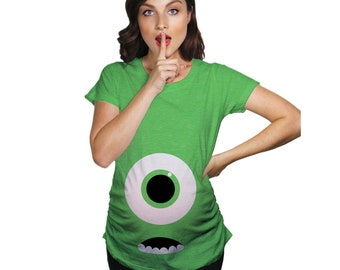 26f6b9ff Monster Eye Maternity Shirt, Halloween Maternity Shirt, Funny Maternity  Shirt, Funny Pregnant Shirt, Baby Announcement Shirt, Cute Maternity