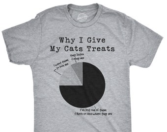 890189da11 Cat Shirt Man, Funny Cat Shirt, Offensive Shirt, Hilarious Shirt, Funny  Mens Shirt, Cool Cat Shirt, Why I Give My Cat Treats, Cat is Lost
