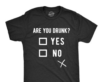 af8bc44f Beer Shirts Men, Bachelor Party Favors, Stag Do Shirts, Funny Drinking  Shirts, Joke Quote Alcohol T Shirt, Are You Drunk Checkbox Tee