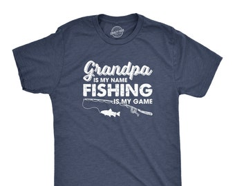 d1d5ca4c0 Funny Grandpa Fishing T shirt, Joke Grandad Angling Shirt, Humor Fisherman  Loose Fit Tee, Joke Fishing Gifts, Fishing Is My Game
