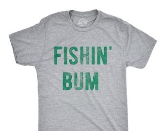 44f5e4b6e Rude Mens Fishing T shirt, Funny Innuendo Angling Shirt, Offensive Fisherman  Loose Fit Tee, Joke Fishing Gifts, Fishing Bum