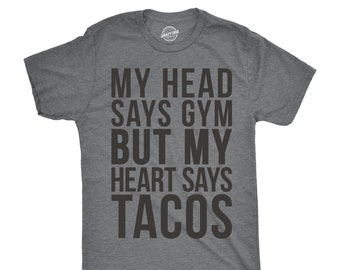 87242943f2 Taco Gym Shirt, Workout Shirt Men, Funny Mens Shirt, Funny Workout Shirt,  Taco T shirt, Funny Gym Shirt for Men, Mens Cool Tees