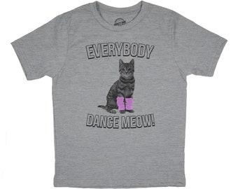 fadea9c3d1 Youth Cat Shirt, Dancing Cat Shirt, Funny Cat T Shirt, Kids Cat Shirt, Gift  For Cat Owner, Youth Everybody Dance Meow T Shirt