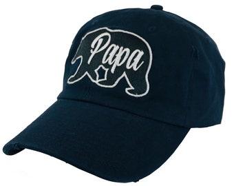 e76558aae467e Embroidered Papa Bear Hat