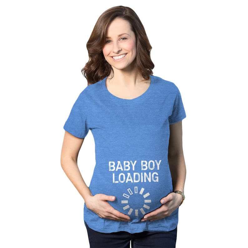 81bb727578f65 Baby Boy Loading Maternity Graphic Tees Funny Pregnant Shirt
