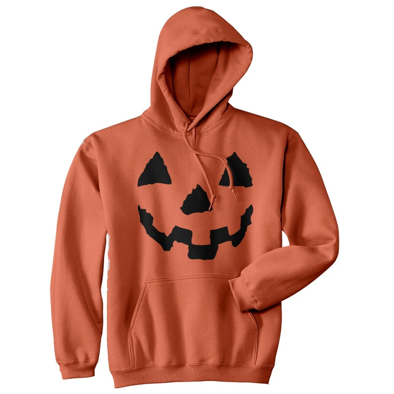 Unisex Pumpkin Face Hoodie Pumpkin Hoodies Halloween image 0