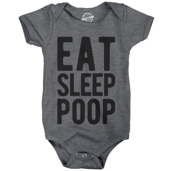 Baby Romper Eat Sleep Poop Funny Baby Clothes Rompers