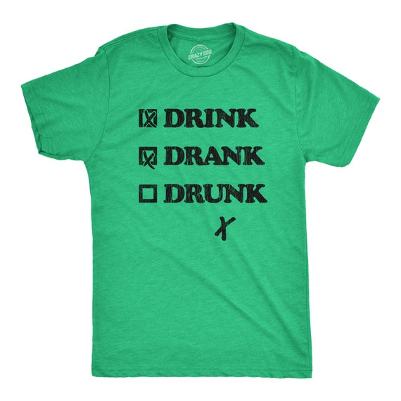 I DRINK BEER PERIODICALLY Mens Funny T-Shirt Alcohol Drinking Joke Party Tee Top
