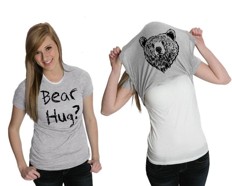 48eec7303 Funny Camping Shirt Bear Hug Flip Shirt Animals T Shirt | Etsy
