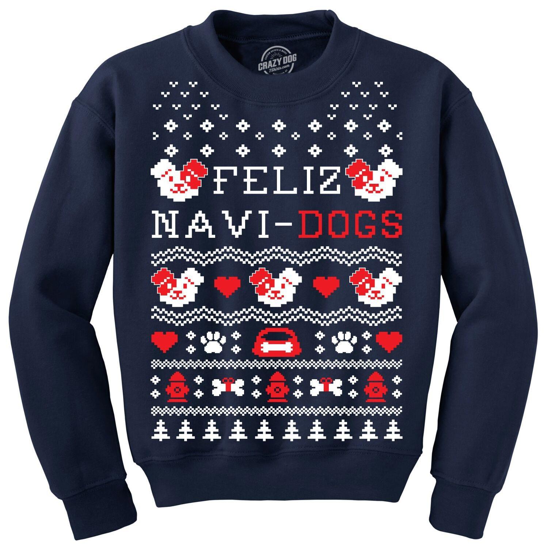 Pull De Pull Noël Feliz Navidad Feliz Navidogs Chemise Pull De De