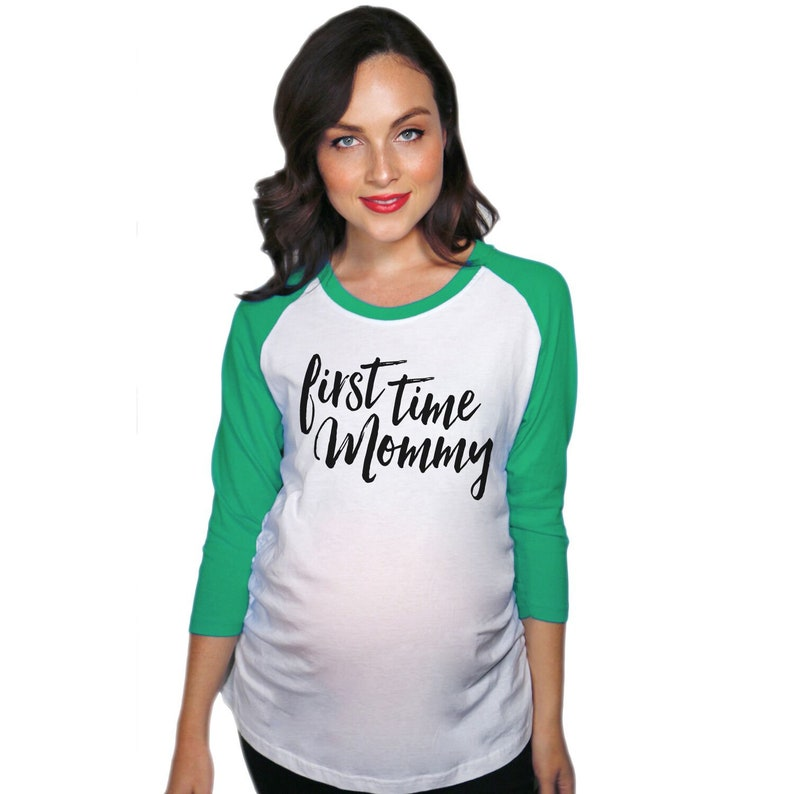 9dbe081004 Baby Bump Pregnancy shirt First Time Mommy Maternity Raglan | Etsy