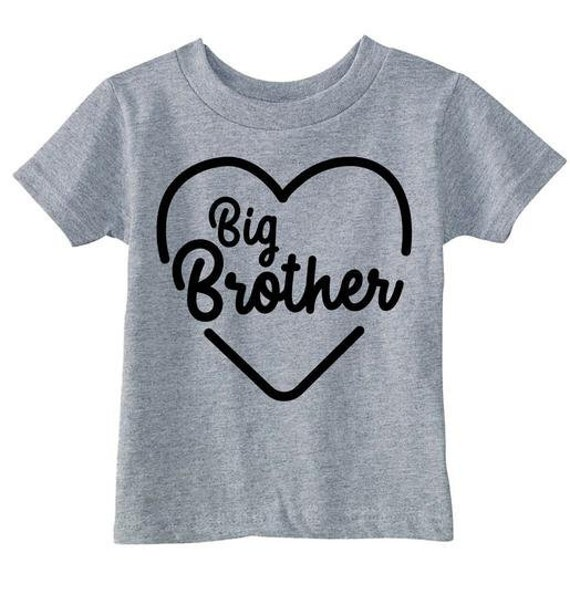 Love Big Brother Shirt Kids Heart Funny Gift
