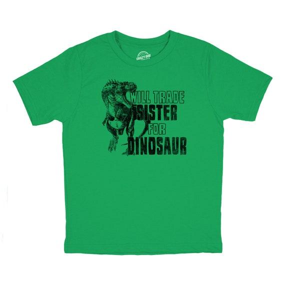b83db8650 Annoying Sister Shirt, Funny Brother Shirt, Sibling Shirts, Big Brother  Shirt, Big Brother Gift, Youth Will Trade Sister For Dinosaur