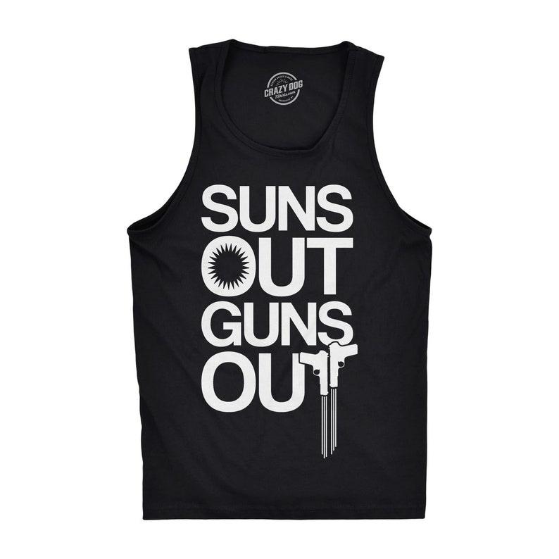 0305298a439aca Suns Out Guns Out Tank Top Mens Tank Top Workout Tank Top