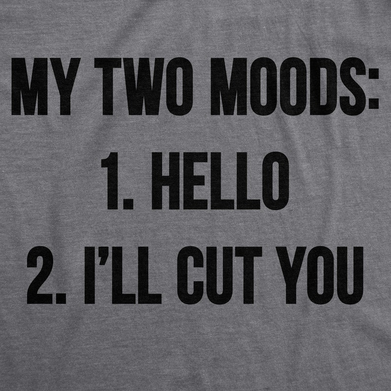 7cf9162a8 My Two Moods: Hello and I'll Cut You Funny Womens Shirt | Etsy