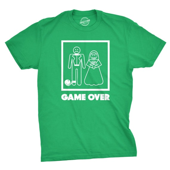 58bb471d Just Married Shirt Men, Ball And Chain Shirt, Shirt For Husband Funny, Game  Over Shirt, Shirt For Hubby, Husband Gift Funny. CrazyDog T-shirts