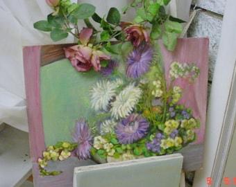 Oil Painting Florals Vintage Farmhouse French Prairie Cottage Chic
